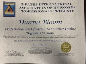 Online Hypnosis Session Certification Certificate